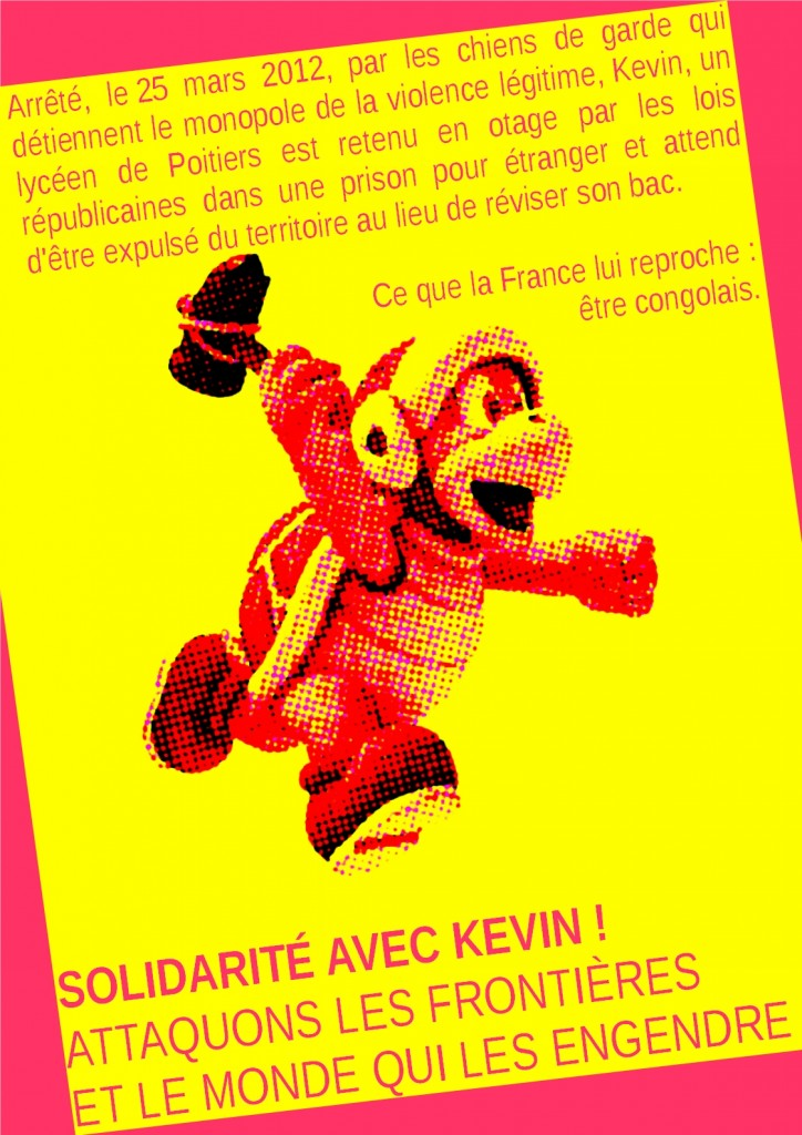 Affiche de solidaité avec Kevin
